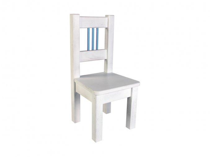 Dětská židlička BORNE white/blue