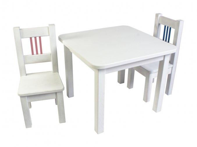Dětský Stoleček a Židličky BORNE white