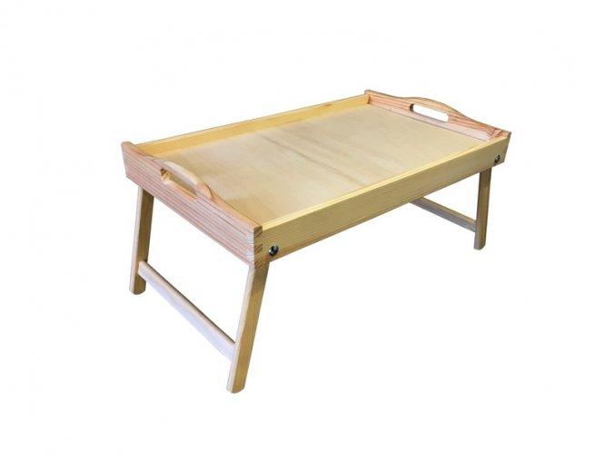Dřevěný stolek do postele 50x30 cm