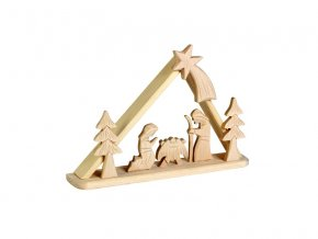 Dřevěný betlém - malý trojúhelníkový