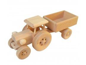 Dřevěný traktor s vlečkou JOHN