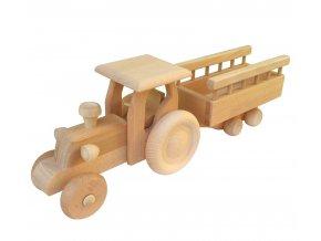 Dřevěný traktor s vlečkou JOHN MAX
