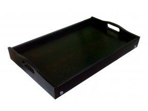 Dřevěný stolek do postele 50x30 cm černý