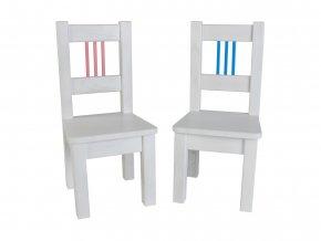Dětská židlička BORNE bíla sada