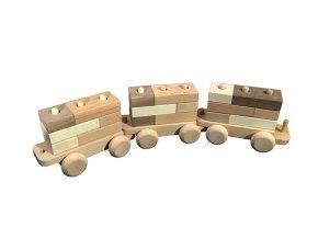 Dřevěné vagónky k vláčku DADO 3ks
