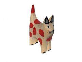 Dřevěné zvířátko kočička