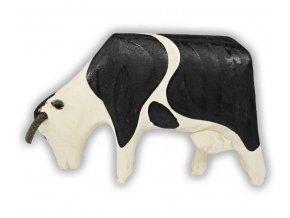dřevěná pasoucí se kráva