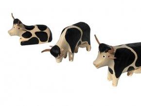 Dřevěné zvířátko kráva SADA 3 ks