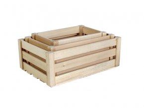 Dřevěné bedýnky SADA 3 ks