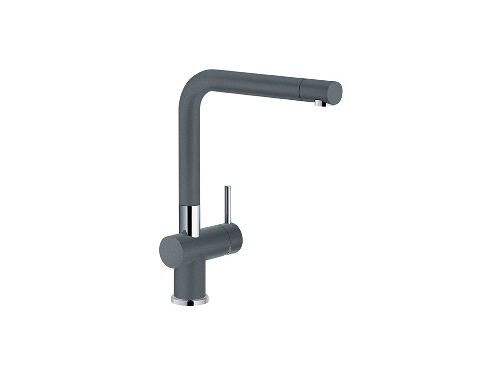 Franke FN 6100 dřezová baterie bez sprchy chrom - fragranit grafit, 115.0373.820