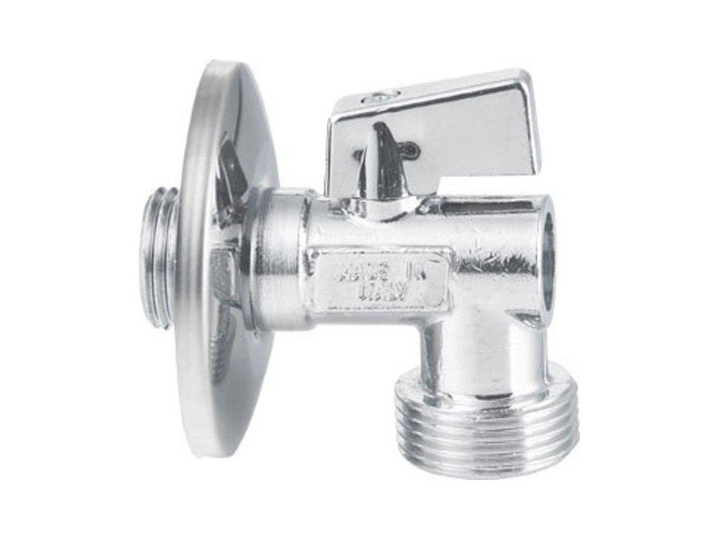 Pračkový kulový ventil se zpětným ventilem 1/2'x3/4' - L, chrom 5310