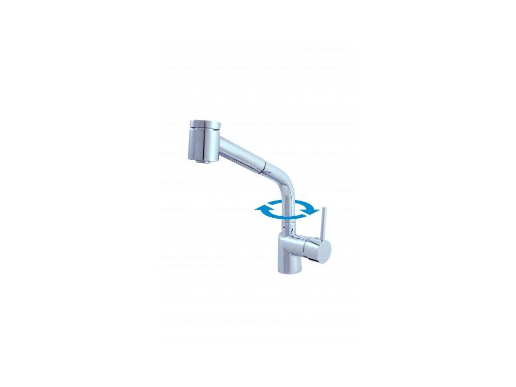 Stojánková dřezová baterie s vytahovací sprchou Rav Seina SE911.0