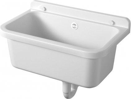 Závěsná výlevka 55x34cm, plast, bílá PI5055