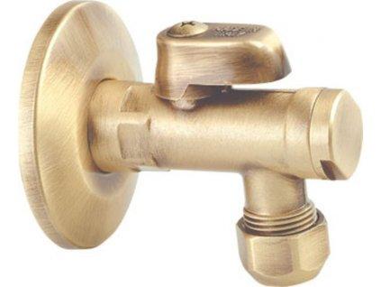 Rohový ventil s matkou, 1/2'x 3/8', bronz 2020BRO