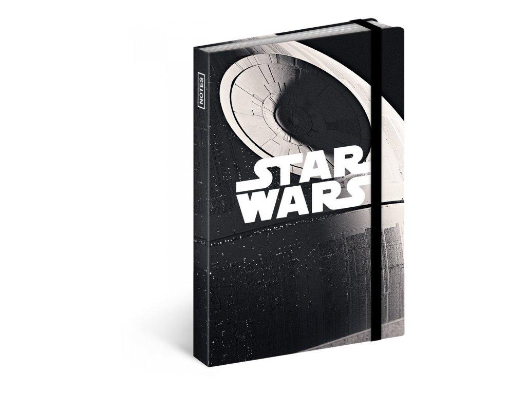 Notes A6 Star Wars linkovaný, 10,5 x 15,8 cm