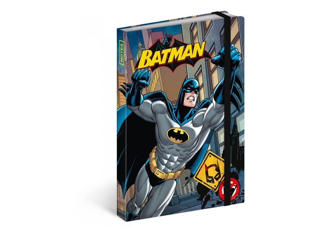 Notes A6 Batman linkovaný, 10,5 x 15,8 cm