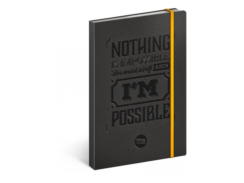 Motivační notes, linkovaný, 13 x 21 cm