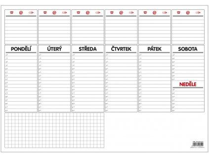Stolní plánovač A3 - týd. mapa - 30 listů