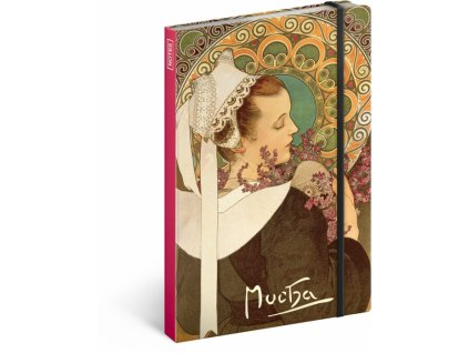 Notes Alfons Mucha A5, 13 x 21 cm