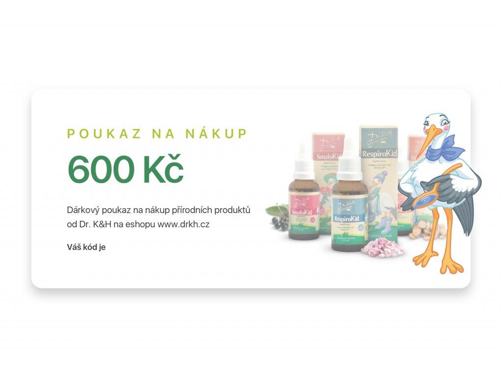 Dárkový poukaz - 600 Kč