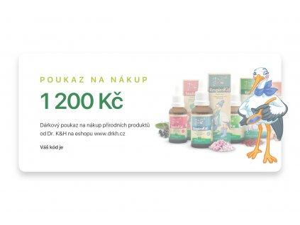 Dárkový poukaz - 1200 Kč
