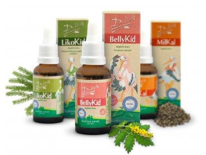 Balíček MilKal, BellyKid a LikoKid