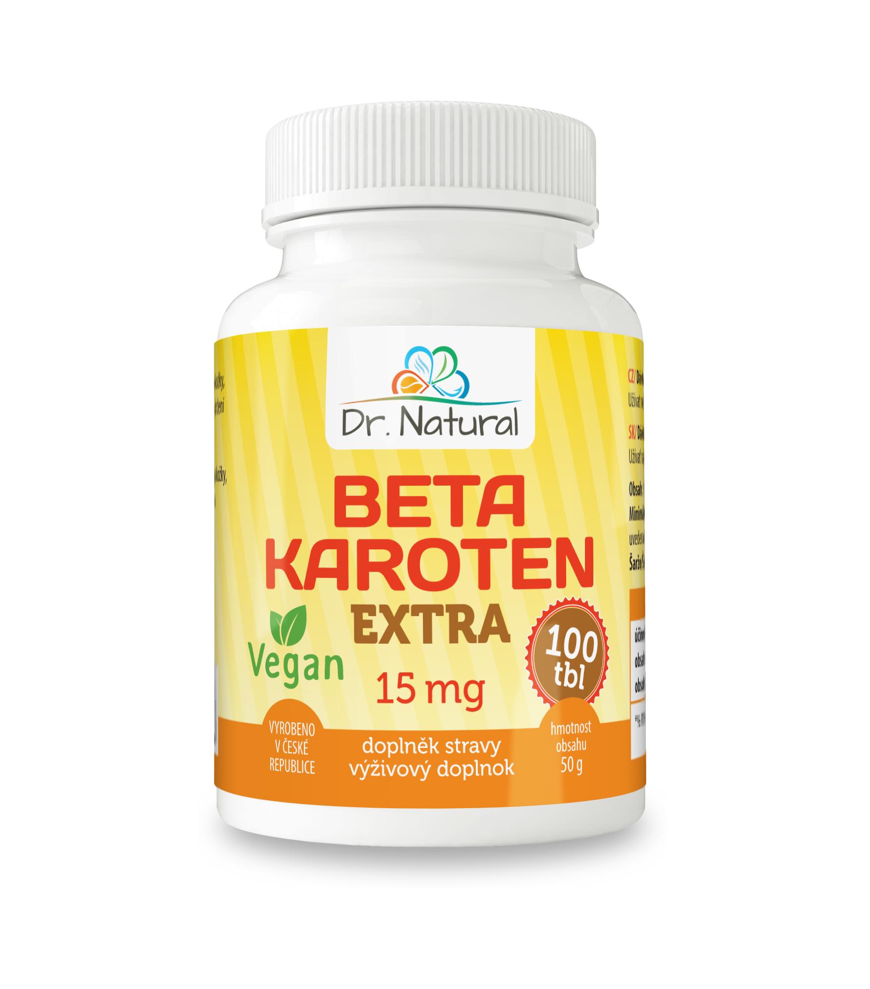 Dr.Natural Betakaroten extra 15 mg 100 tbl.