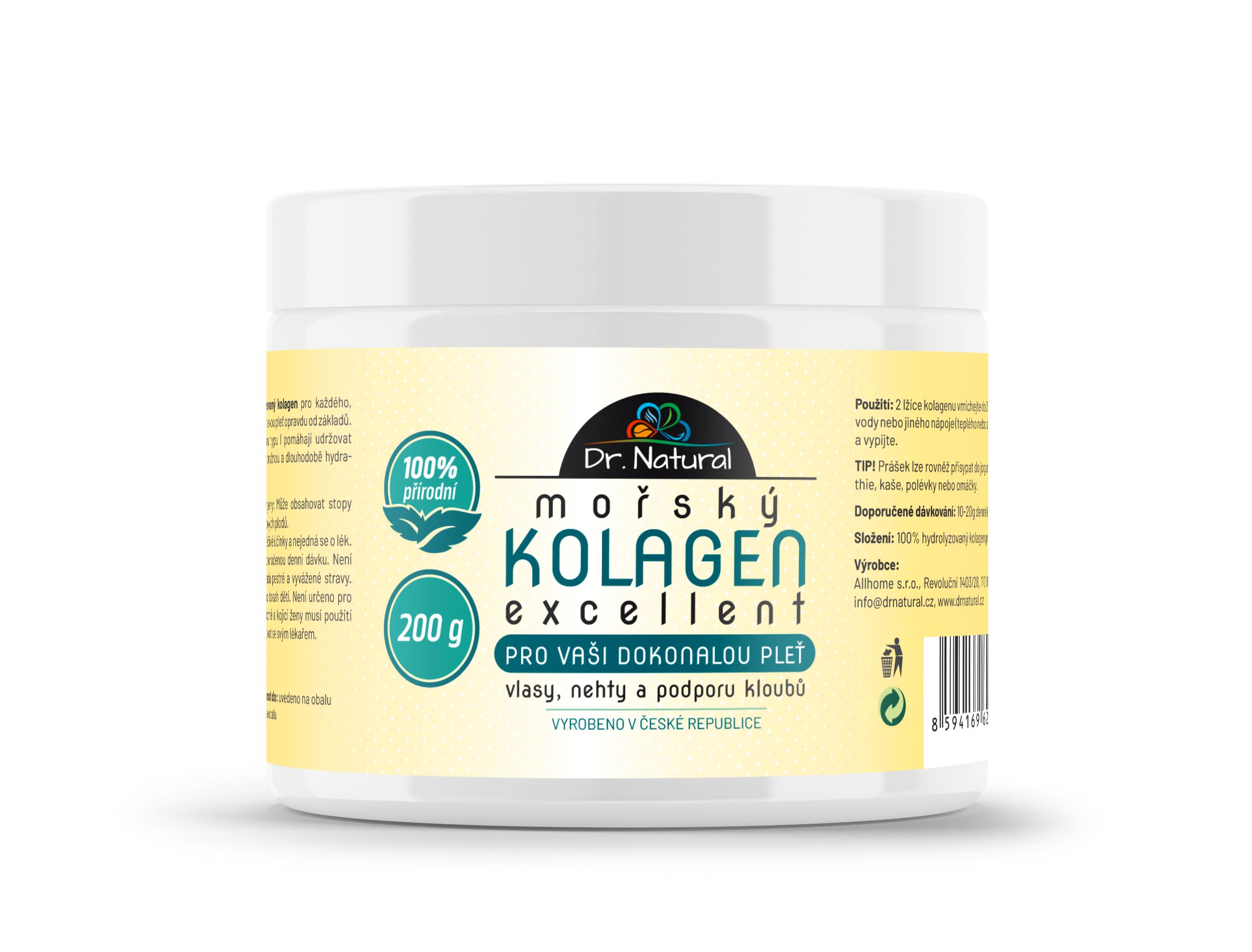 Dr.Natural Mořský Kolagen Excellent 200g 100%