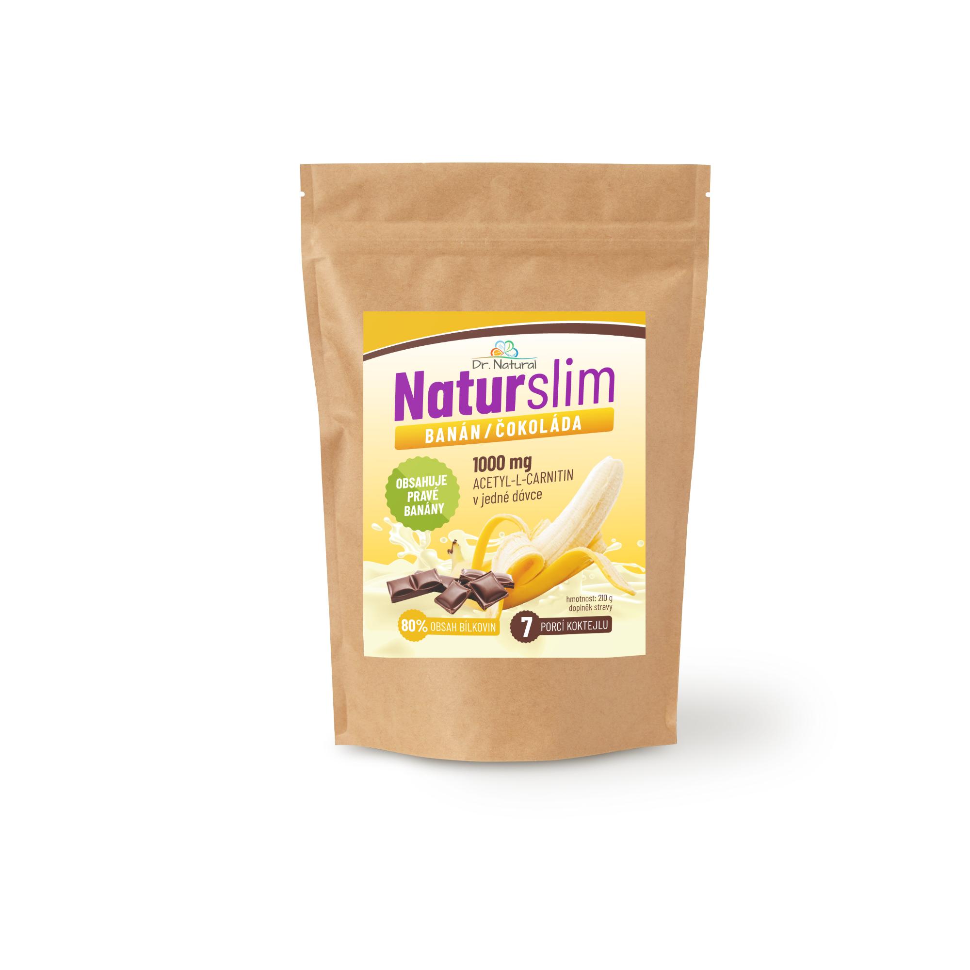 Dr.Natural NaturSlim banán čokoláda 210g