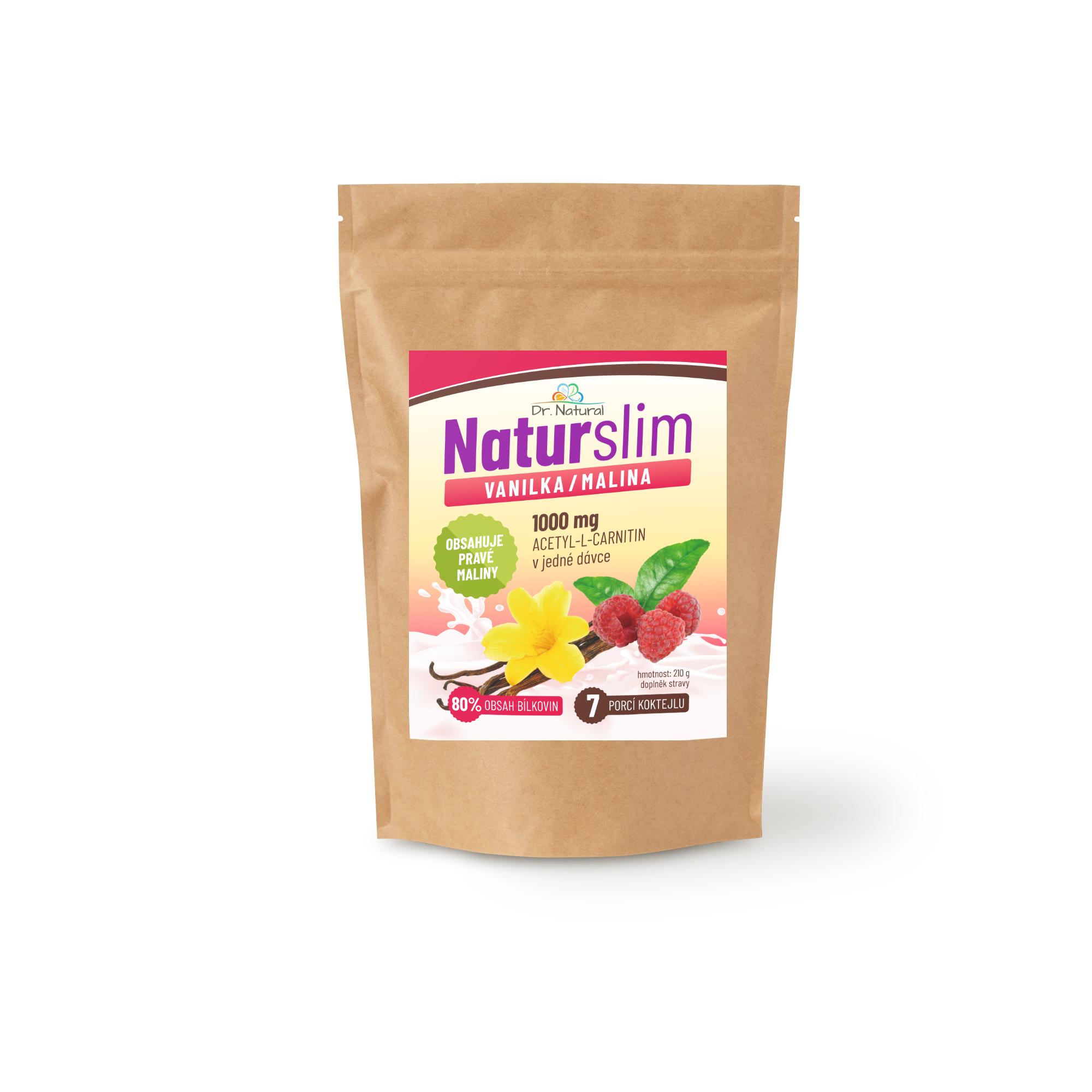 Dr.Natural NaturSlim vanilka malina 210g