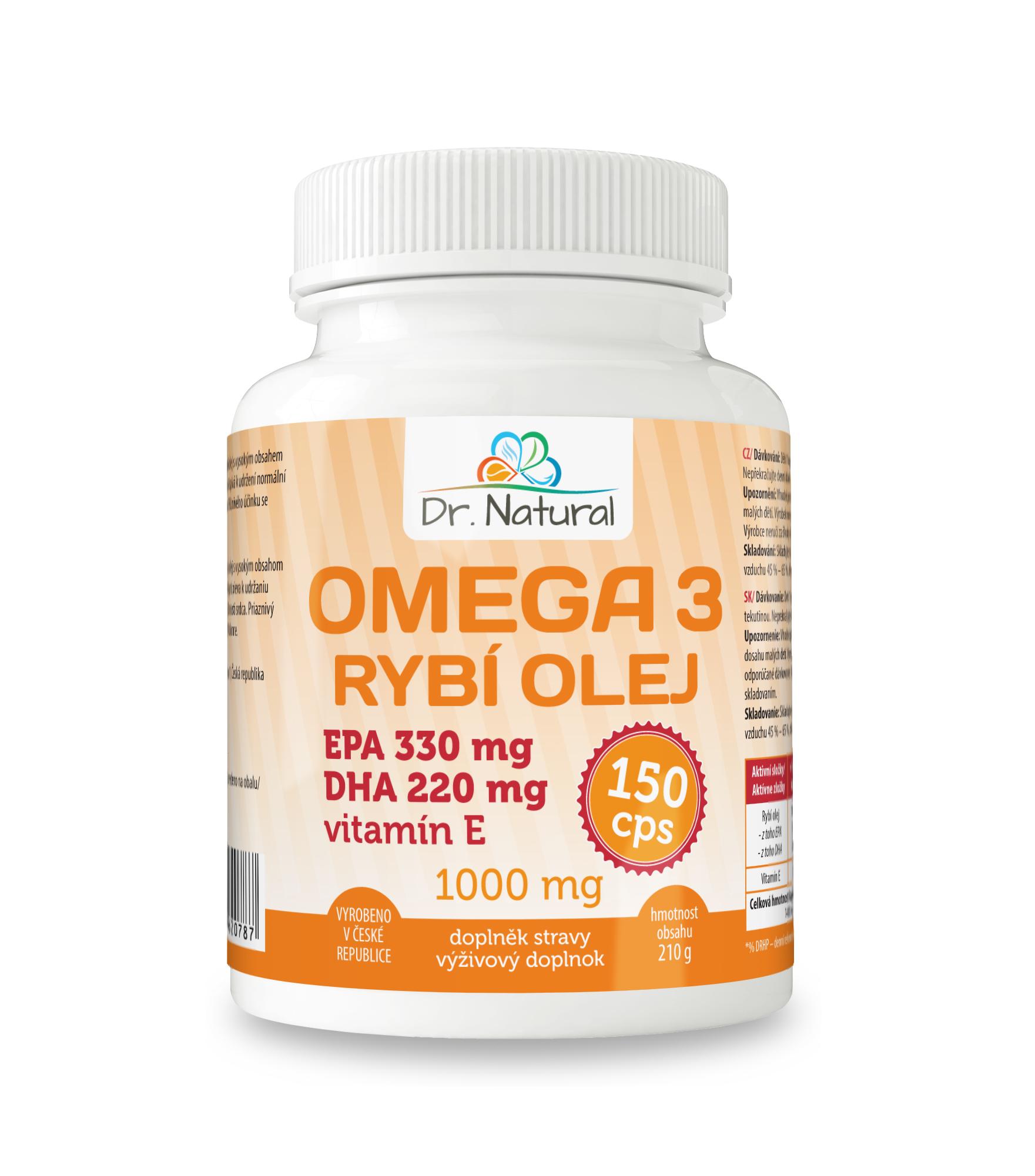 Omega 3 Rybí olej 1000mg EPA330mg/DHA220mg 150 cps.