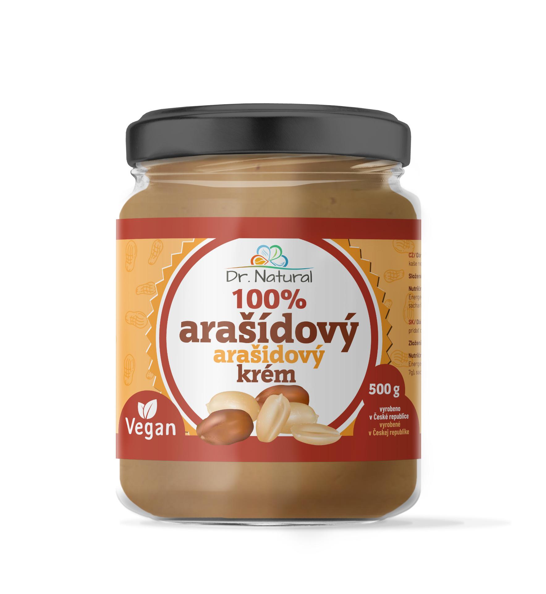 Dr.Natural Arašídový krém jemný 500g 100%