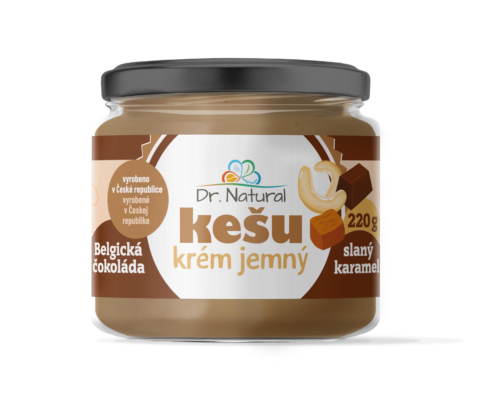 Dr.Natural Kešu krém belgická čokoláda slaný karamel 220g