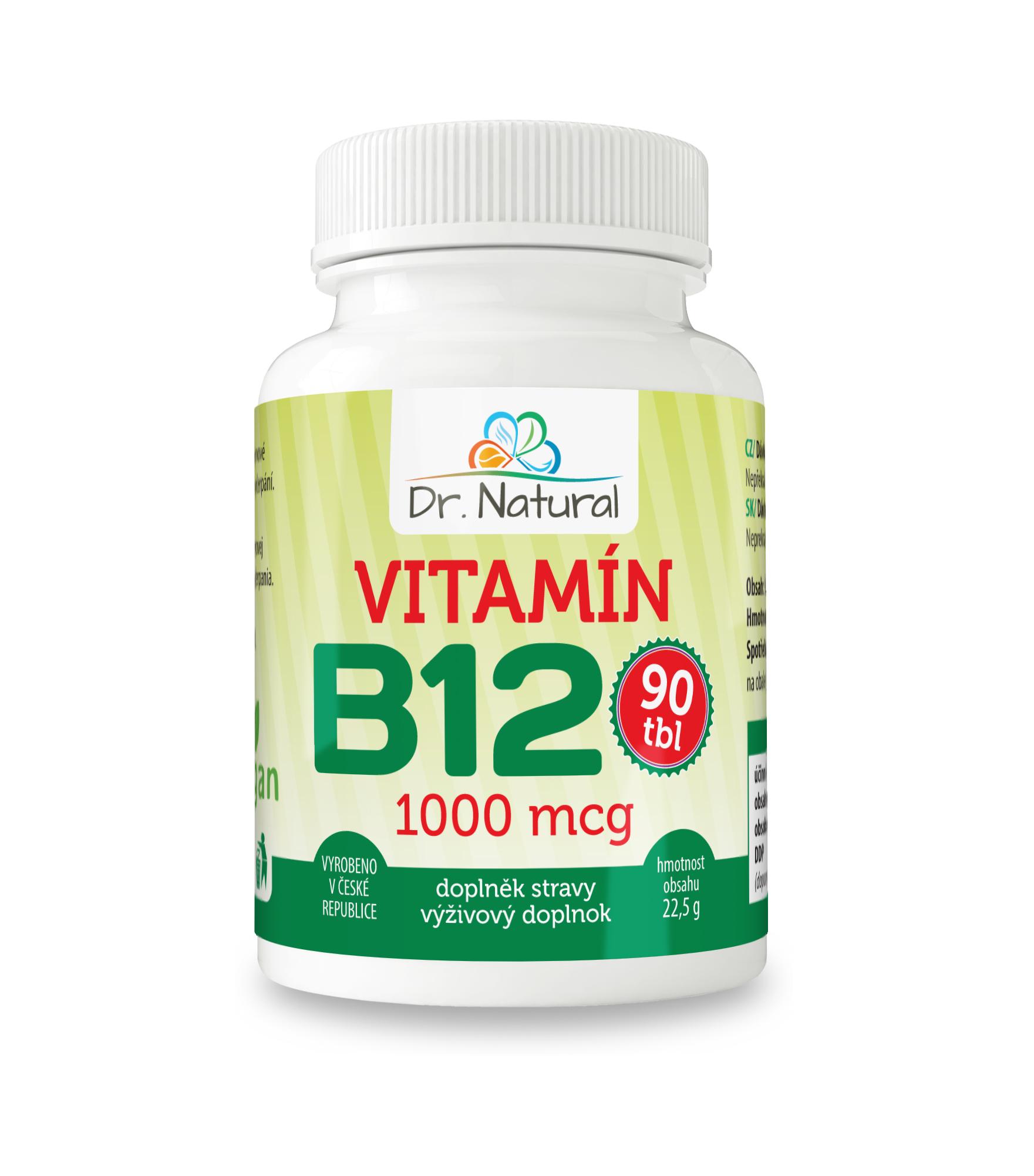 Dr.Natural Vitamín B12 1000 mcg 90 tbl.