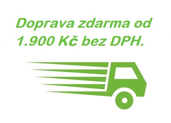 Doprava zdarma od 1.900 Kč bez DPH