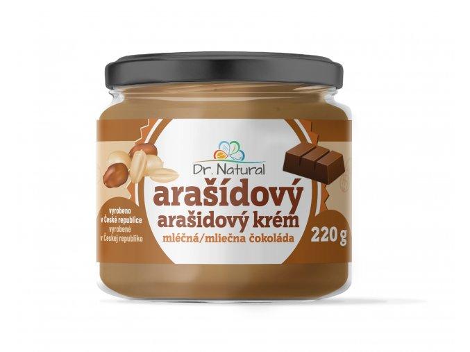 DR NATURAL sklenicka ARASIDOVE MASLO mlecna cokolada VIZUAL