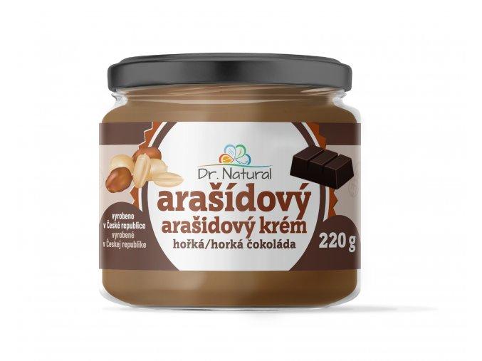 DR NATURAL sklenicka ARASIDOVE MASLO horka cokolada VIZUAL