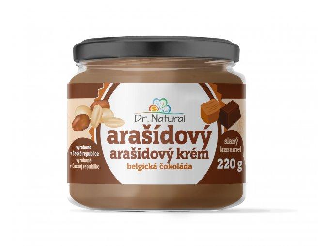 DR NATURAL sklenicka ARASIDOVE MASLO belgicka cokolada VIZUAL