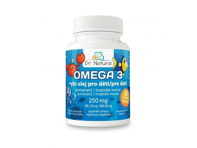 DR NATURAL omega3 PRO DETI 60kapsli CZ SK VIZUAL