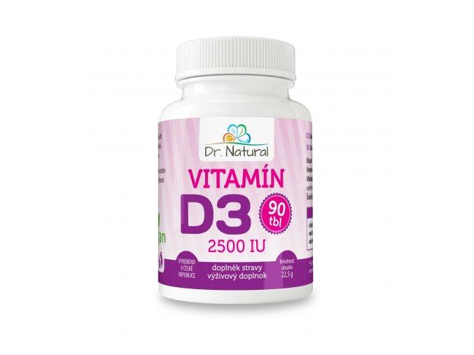 DR NATURAL VITAMIN D3 90tbl VIZUAL