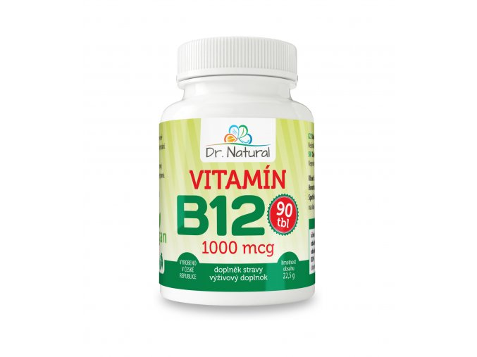 DR NATURAL VITAMIN B12 90tbl VIZUAL