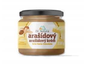 DR NATURAL sklenicka ARASIDOVE MASLO bila cokolada VIZUAL