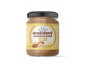 DR NATURAL sklenicka ARASIDOVE MASLO bila cokolada 500g VIZUAL