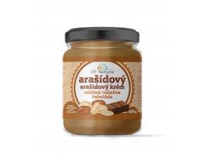 DR NATURAL sklenicka ARASIDOVE MASLO mlecna cokolada 500g VIZUAL