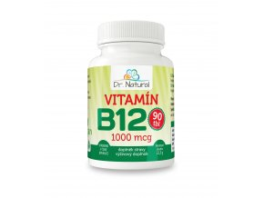 DR NATURAL VITAMIN B12 90tbl VIZUAL
