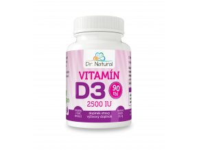 DR NATURAL VITAMIN D3 90tbl VIZUAL