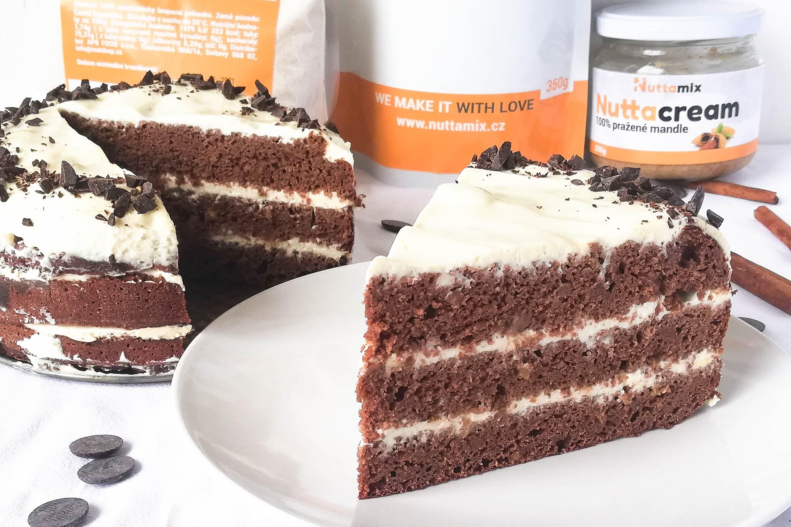 Recept: Čokoládový dort s fíky a proteinem