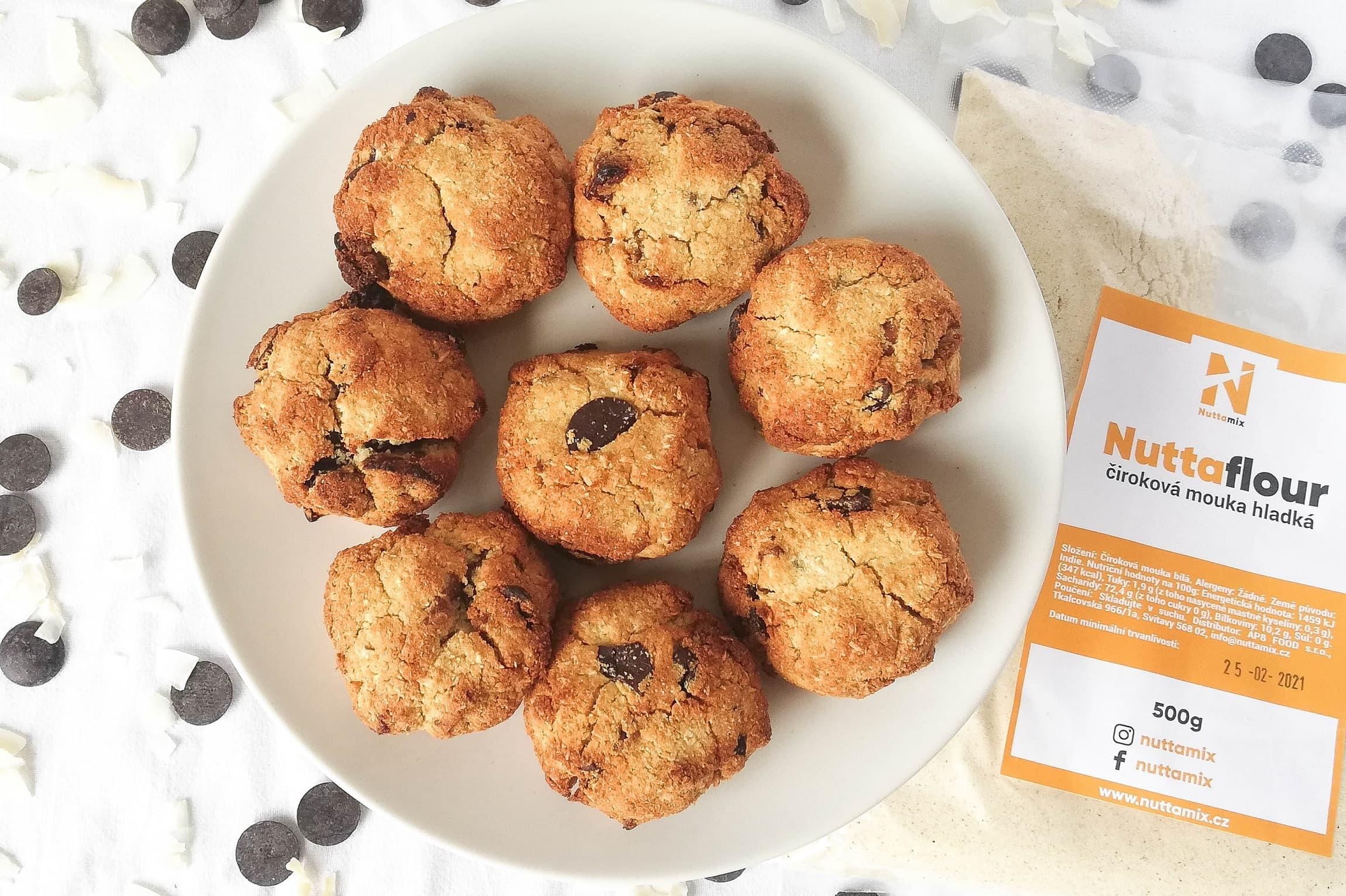 Recept: Bezlepkové zdravé sušenky z čirokové a kokosové mouky.