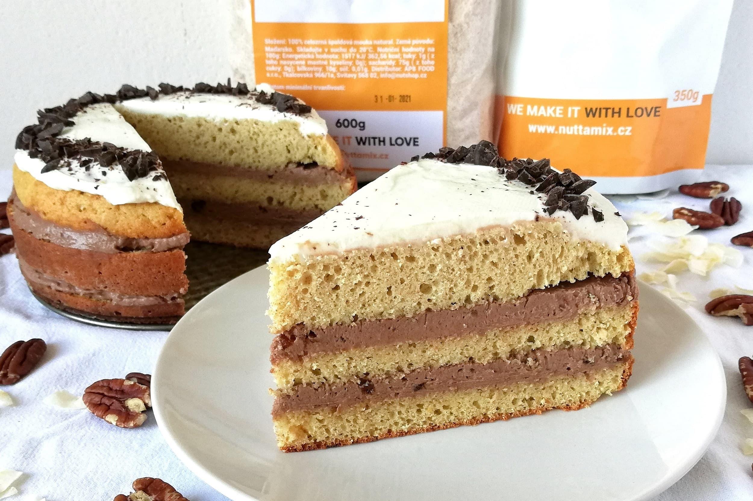 Recept: Vanilkový dort s čokoládovo-datlovým krémem