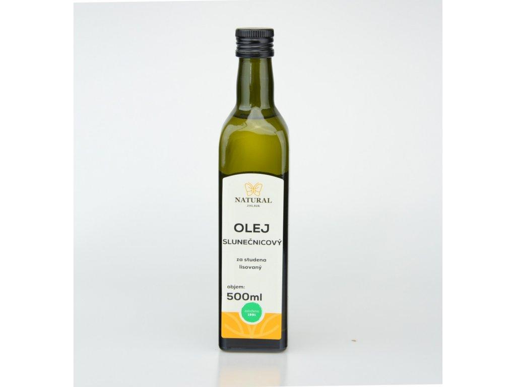 olej slunecnicovy za studena lisovany